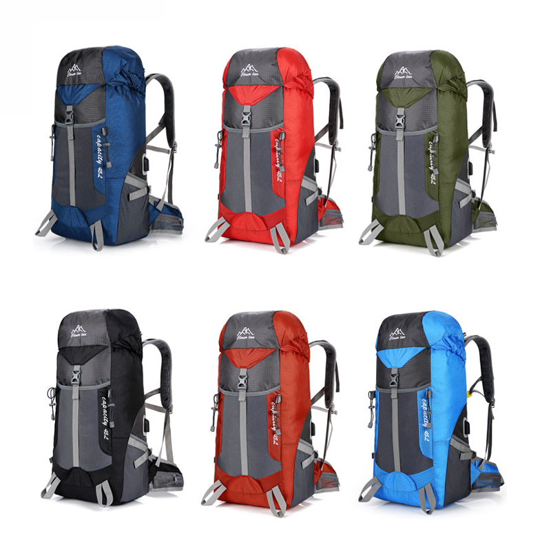 Hot Outdoor Bag Camping Hiking 45L Hiking Backpack Outdoor Backpacks Nylon Sport Bag Multi-purpose Climbing Bags 1