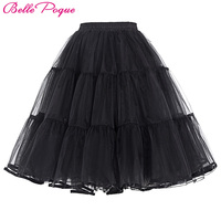 Tulle Skirt Pleated Fluffy Rockabilly Swing Petticoat Underskirt Crinoline Women Skirts Tutu Pettiskirt Summer Faldas Saia