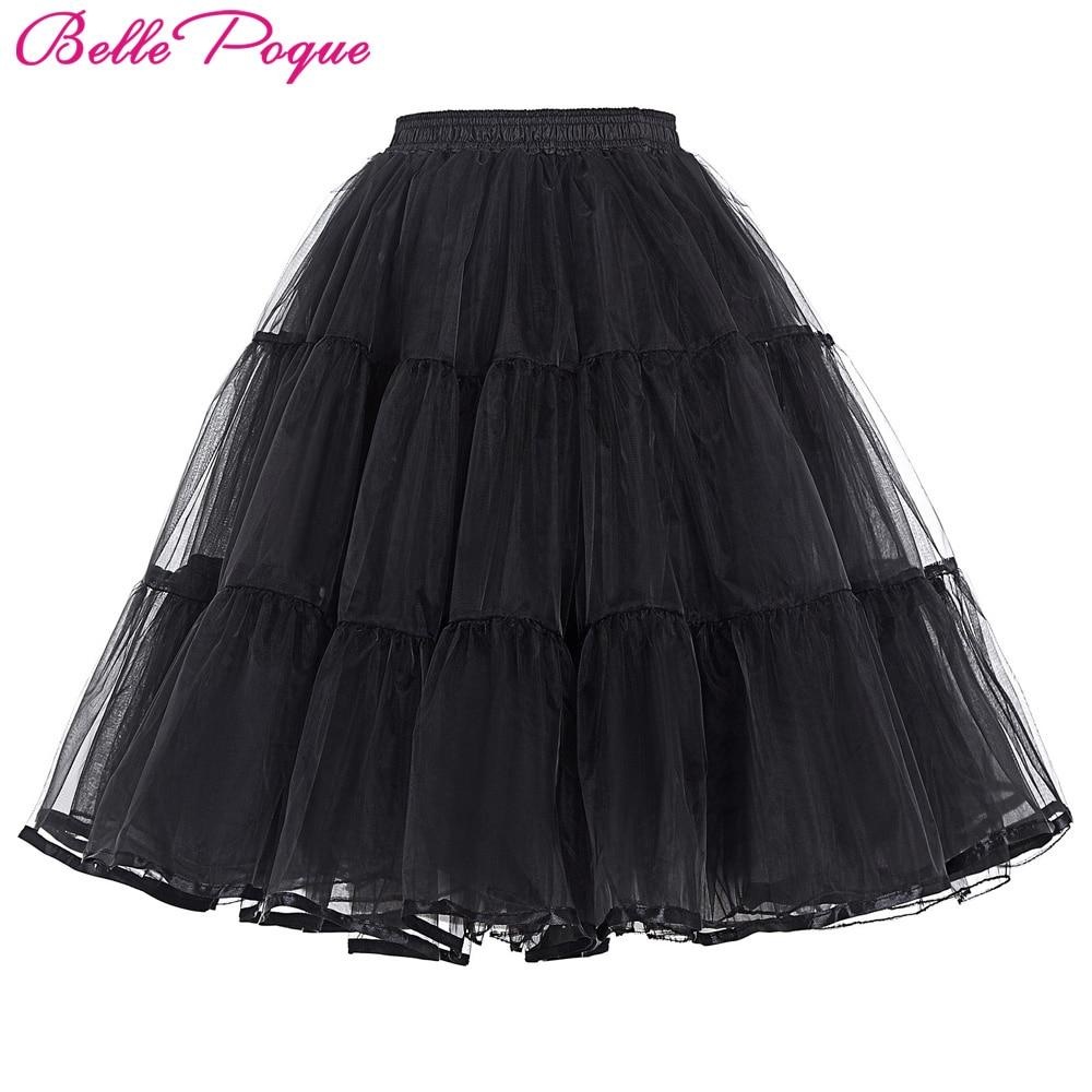 تول تنورة مطوي رقيق روكابيلي سوينغ - ملابس نسائية