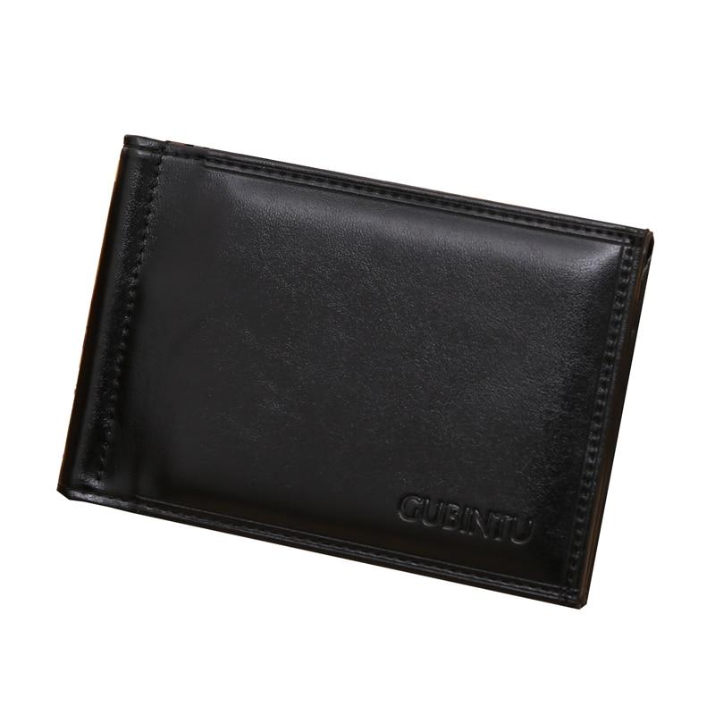 luxo masculino carteira preta carteira Color : Blackred For Clip For Money