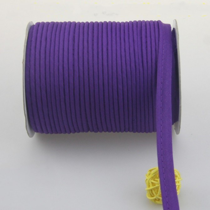 "1/2"" 12mm Purple Polyester Satin Bias Cord Tape Piping"