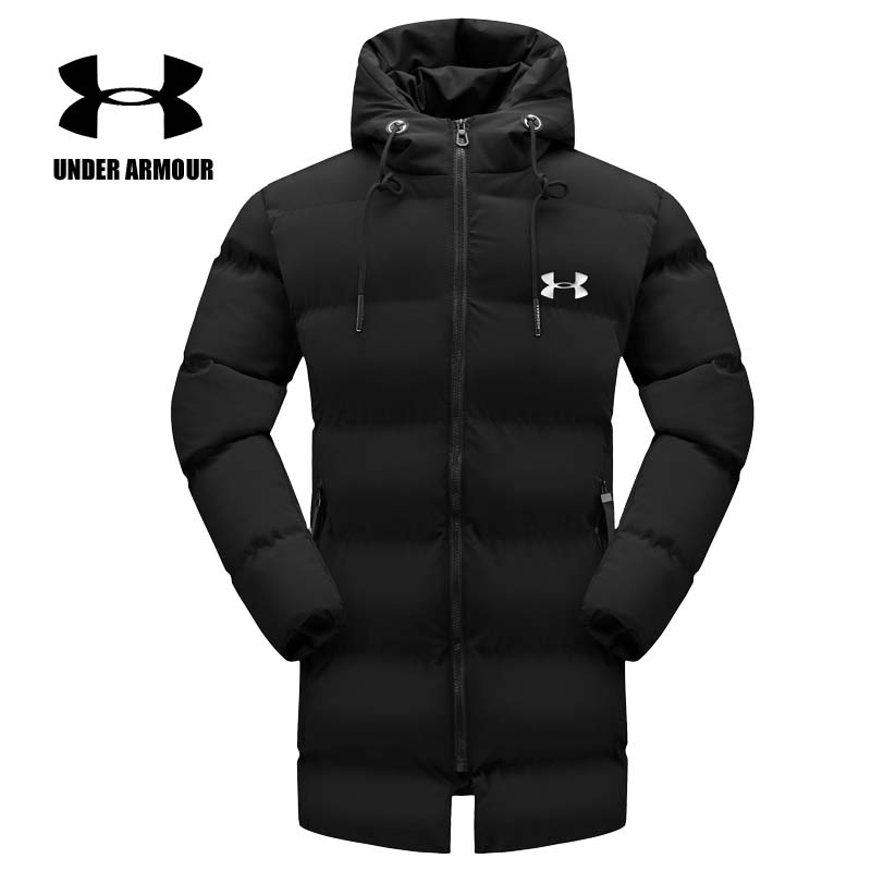 Under Armour Men training jackets winter warm long cotton fashion jacket outdoor windproof clothes abrigo hombre XL-6XL hot sale 2017 new fashion winter jacket men long thick warm cotton padded jackets coat parka overcoat casual outwear jacket plus size 6xl