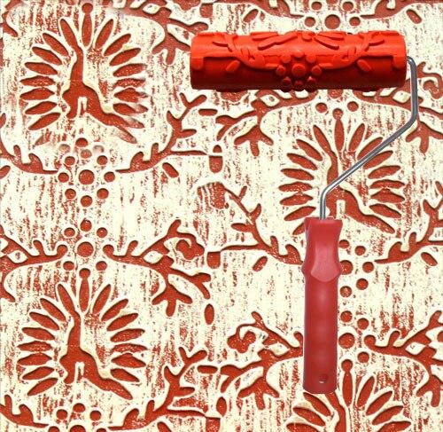 18 19 5 De Réduction Rouleau De Peinture à Motifs Avec Poignée En Caoutchouc Tv Toile De Fond Gaufrage Décoration De Peinture Murale No 156 In