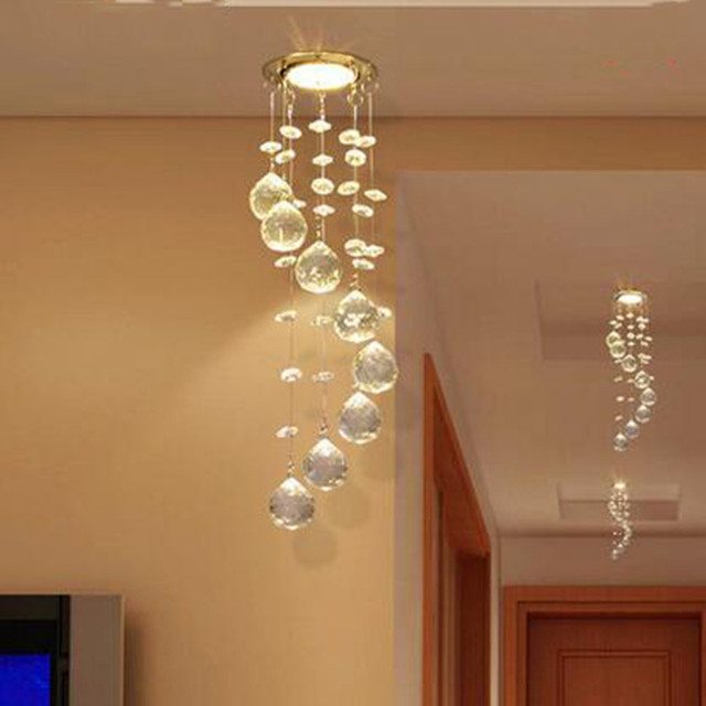 Sprial crystal chandelier light modern decorative crystal light for sprial crystal chandelier light modern decorative crystal light for aisle porch small hanging lamp veranda crystal aloadofball Choice Image