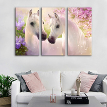 Drop Shipping Canvas Målningar Modern Living Room Väggmålningar 3 Piece Animal Horse Modular Pictures on the Wall Heminredning