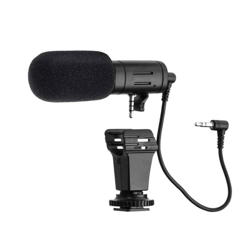 MIC-06 Mini Microphone For Samsung Xiaomi Phones 3.5mm Condenser Mic For DSLR Smart Video Camera Outdoor Interview Microphone