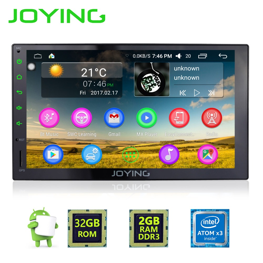 7Joying 2GB+32GB Android 6.0 Universal Car Audio Stereo GPS 3G Wifi Bluetooth Radio Automotive Quad Cord HD Multimedia Player
