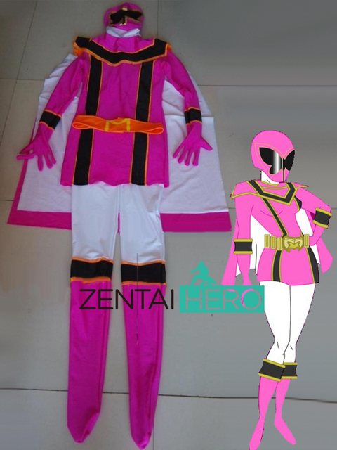 Free Shipping DHL NEW Female Superhero Costume Pink Lycra Zentai Suit For Halloween  Costume PR1538 64fcf1bc5