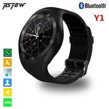 2017 más nuevo deporte pantalla completa smart watch y1 con whatsapp facebook apoyo sim y tarjeta de tf conectividad bluetooth android y ios teléfono