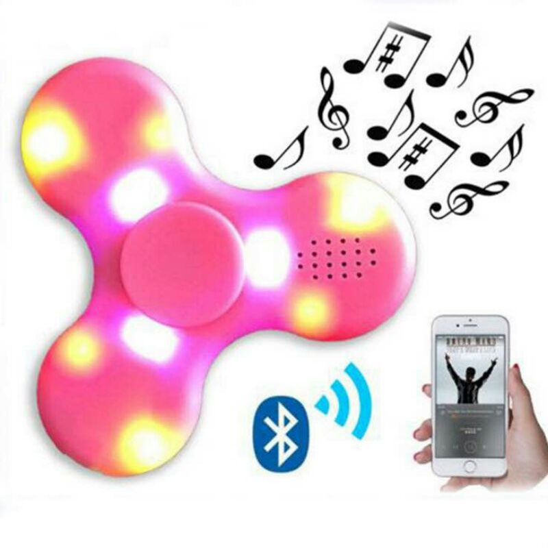 Doub K Led Spinner plastic sliding puzzles Bluetooth Speaker finger spiner Stress Relief new Toys for