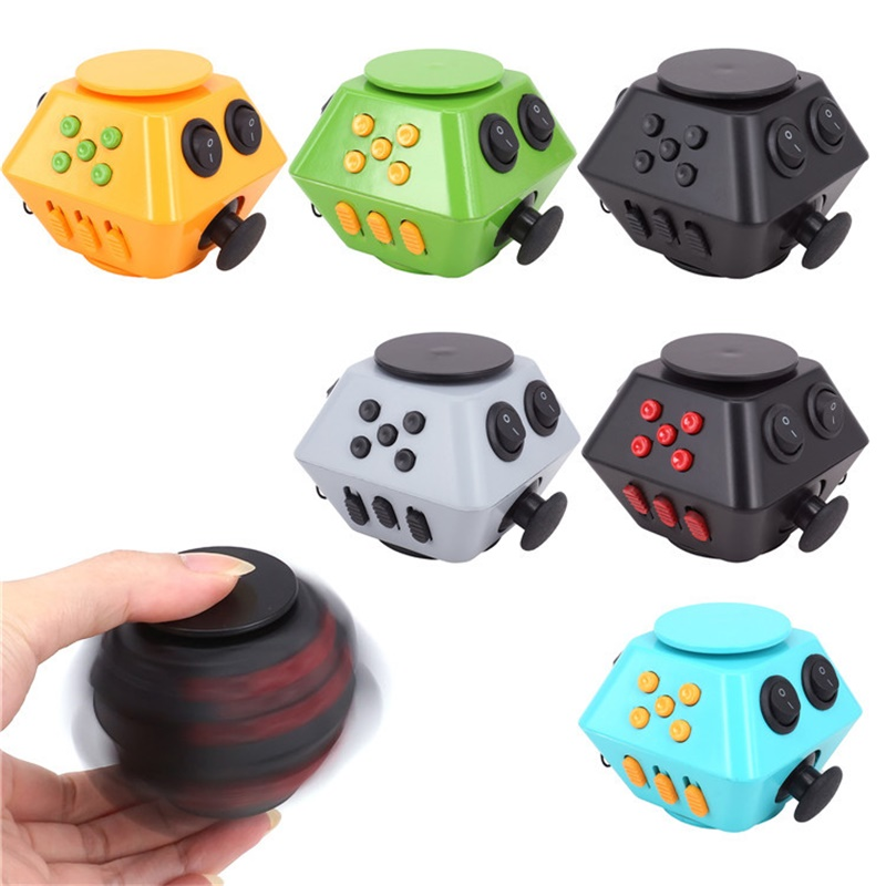 Fidget Spinner Fidget Cube Combination Stress Upgraded 3 Antistress Magic Stress Cube Relieve Anxiety Boredom Finger Cube Toy