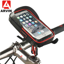 ARVIN Waterproof Bicycle 6.4 inch Bag Phone Holder Motorcycle Mobile Mount for iPhone 8 X Cycling Touch Screen GPS Stand