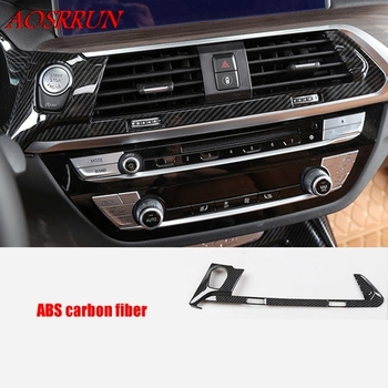 fit For BMW X3 G01 2017 2018 2019 Central Middle Control Air Conditioning Panel Molding Cover Kit Trim car Accessories 1PCS/LOT image