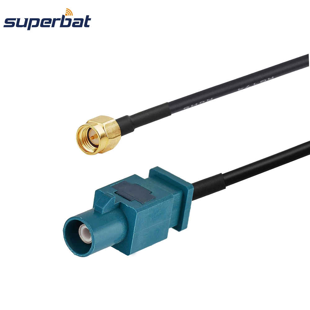 Superbat Coaxial Z Fakra Plug Male Long Straight Connector To SMA Male Straight Pigtail RF Assembly Cable RG174 Radio TV 20cm 8