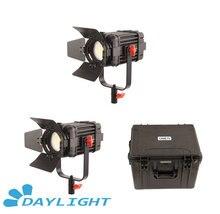 2 pçs CAME TV boltzen 60w fresnel fanless focusable led luz do dia kit B60 2KIT led vídeo luz