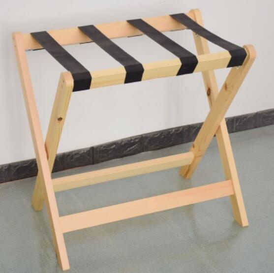 60*40*60 см отель твердой древесины багажные стеллажи складной багаж стул - Цвет: Светло-желтый