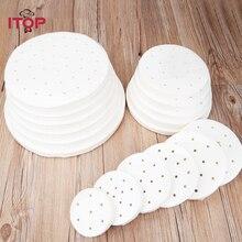 ITOP Hamburger Press Oil absorbing paper 500pcs/set virgin wood pulp nonstick 10/13cm