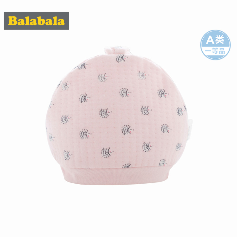 Balabala Infant Baby Boy Baby Girl 100% Soft Cotton Lined Critter Ears Cap Allover Hedhehog Print for Newborn Babys Ribbed Cuffs