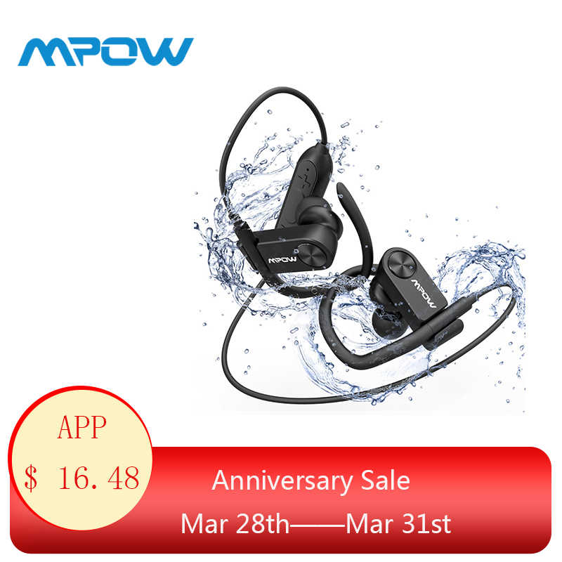 ecaeafc0e1f Mpow D2 Bluetooth 4.1 Wireless Earphone IPX7 Waterproof 16H Super Long  Playing Time Sport Earbuds with