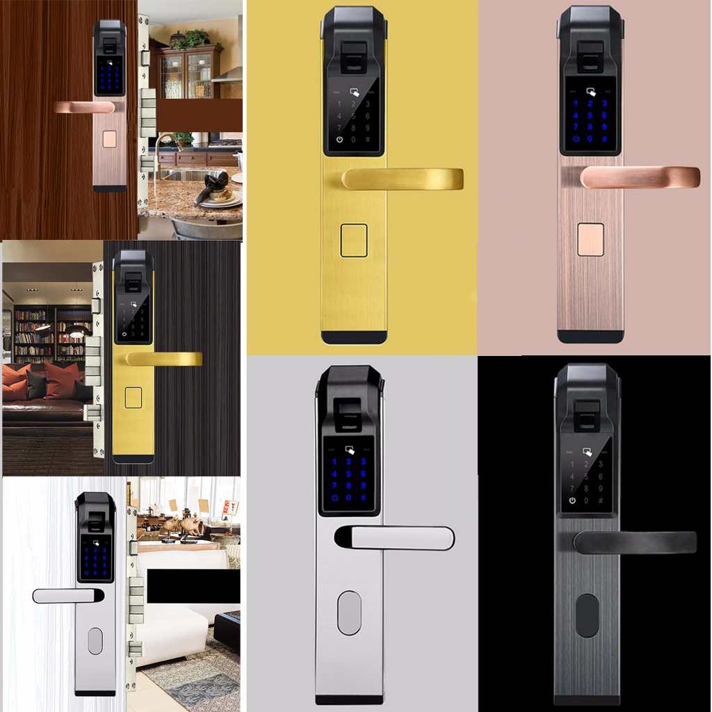 Advanced Fingerprint Door Lock Biometric Keyless Digital Touch Password Lock for Home Security biometric security electronic keyless fingerprint door lock digital keyless lock fingerprint password m1 card