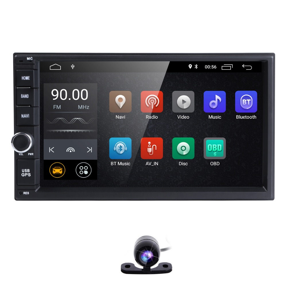 2G+16G Quad Core Android 8.1 car multimedia player gps navigation universal video 2 din car audio for nissan xtrail Qashqai juke все цены