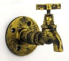 2PCS/LOT   Vintage Flange Base Tap faucet Industrial Style Clothes Bag Hanger Hook  Loft