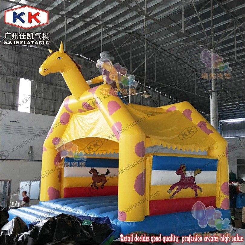 Maison gonflable de rebond de Trampoline gonflable de videur de cheval Commercial pour de petits enfants jouent