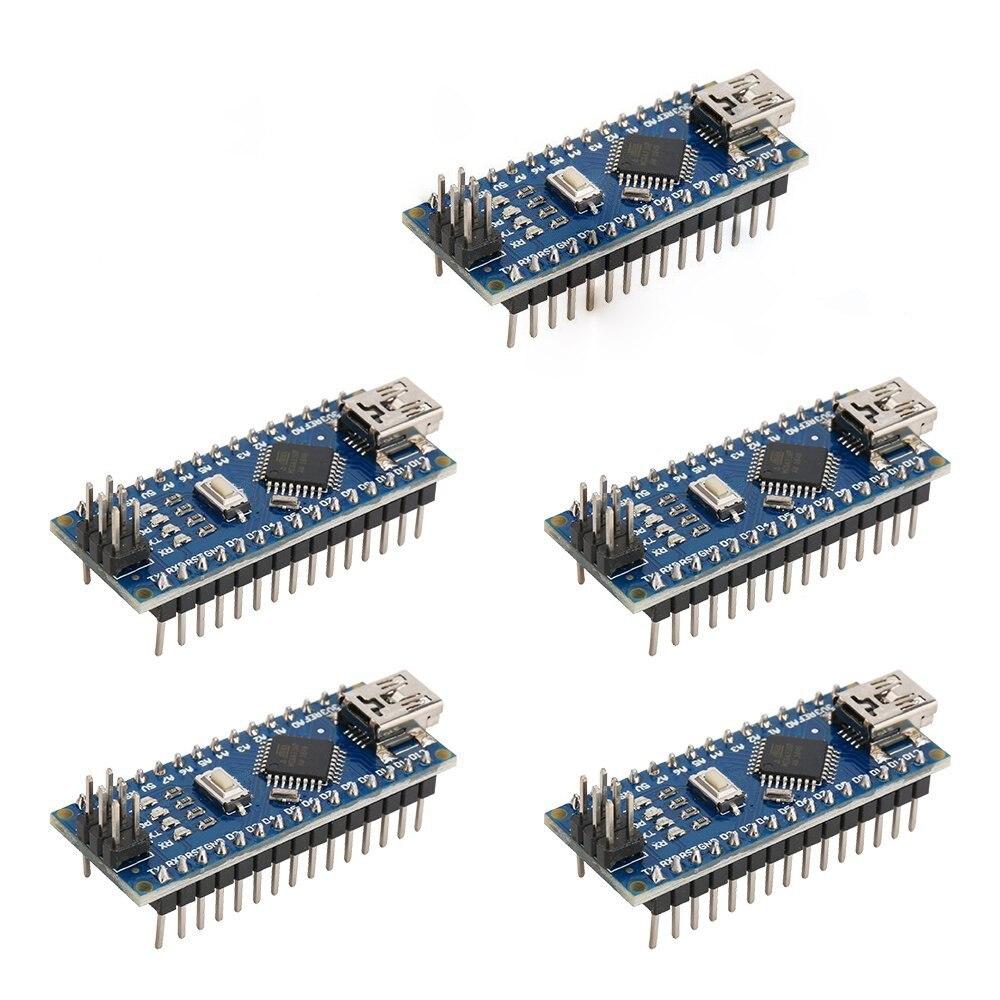 Hot sale 5pcs Nano 3.0 ATmega328P Controlador Compatible Con Arduino NANO CH340 Turno USB Controlador Ninguna CABLE V3.0 NANO