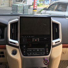 Car Styling For Toyota Land Cuiser LC200 2016 2017 ABS Chrome Interior Center Air Conditioner Outlet Cover Trims Decoration 2Pcs