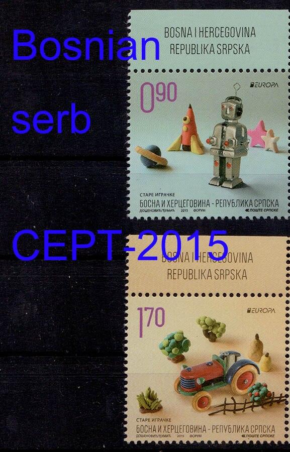 2 pieces/set Bosnian Serb postage stamps 2015 Europa CEPT Old Toys europa европа фотографии жорди бернадо