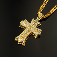 Alloy Necklace Set Auger Cross HIPHOP Sautoir Manufacturers In Europe And The Tide Brand Accessories Wholesale