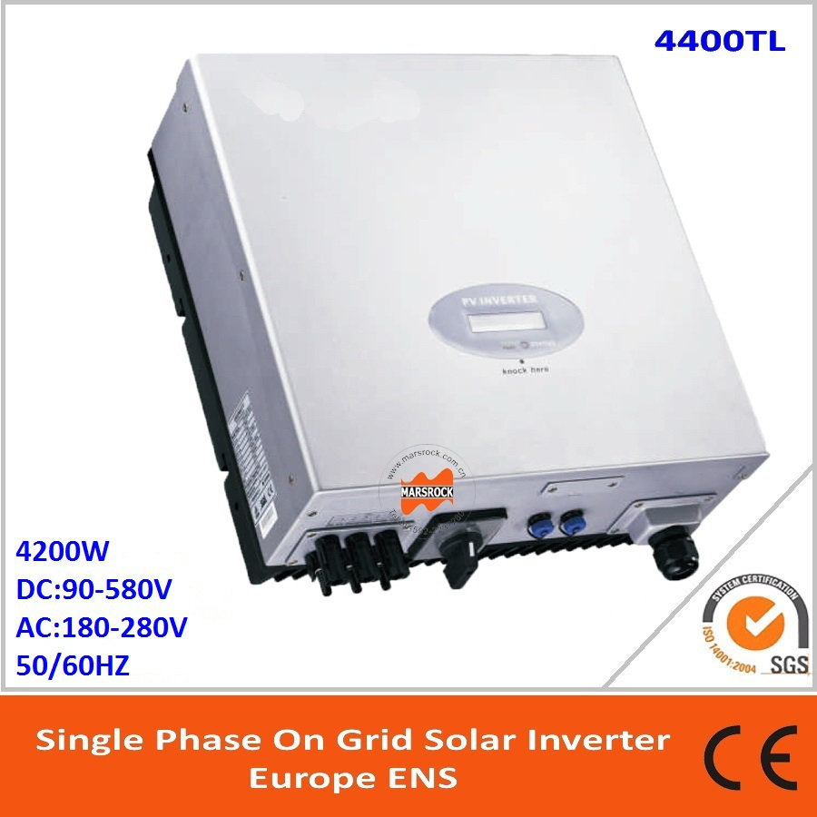 4400W single phase grid tie solar inverter with independent MPPT and RS232 RS485 interface for communication and LCD display! solar power on grid tie mini 300w inverter with mppt funciton dc 10 8 30v input to ac output no extra shipping fee