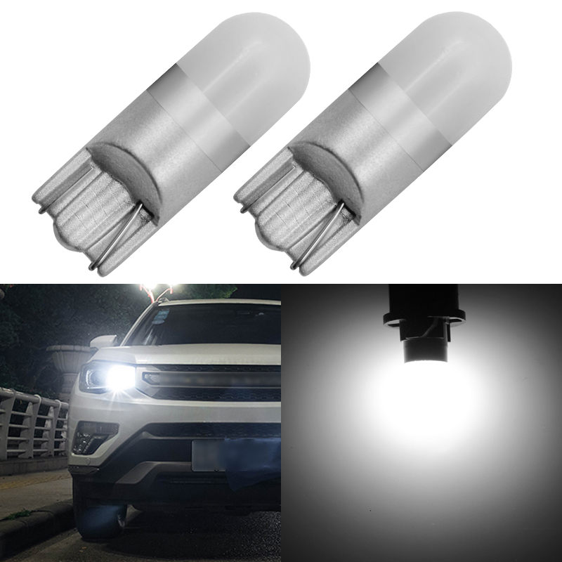 2x10PCS 6000K White Car Light T10 W5W LED Wedge Light Bulb 3030 1SMD Automatic Dome Reading Parking Light Side Light Bulb