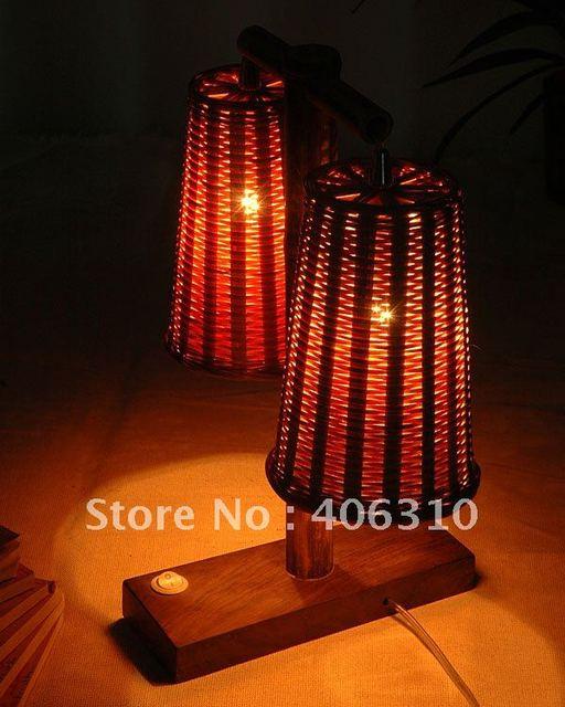 Guaranteed 100% real bamboo lamps /Retail/ PL-B-015