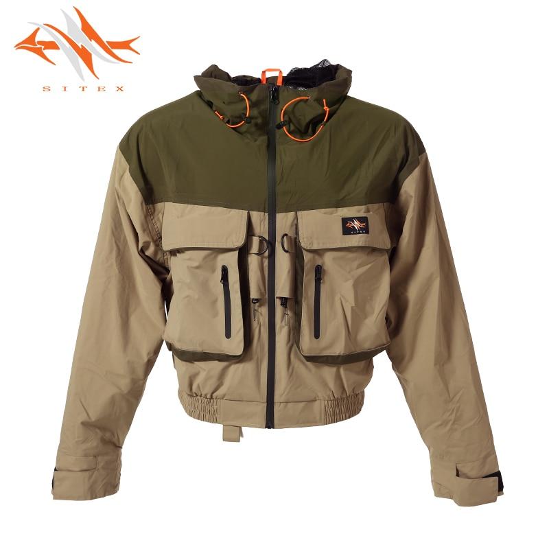 2018 sitex men s Fly Fishing Jacket Waterproof Fishing Wader Jacket Clothes Breathable Hunting clothing Wading