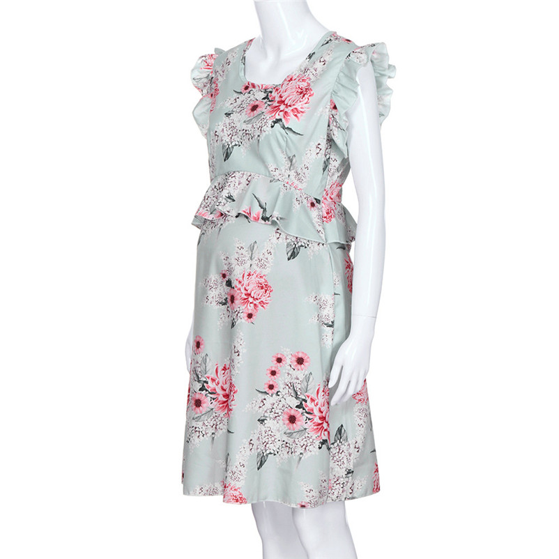 fa5e6f231f23b US $4.48 27% OFF|flower pregnancy dress sweet women maternity dress  elegance clothes robe femme enceinte free shipping dropshipping#F#4ot24-in  Dresses ...