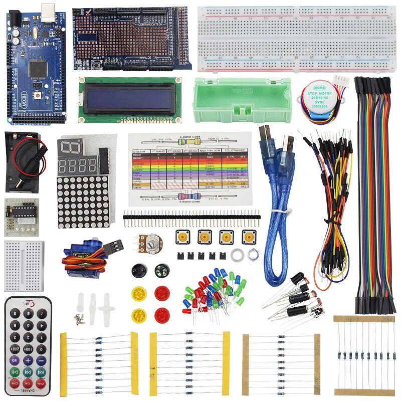 Starter Kit pour MEGA 2560 Servo Moteur Capteur Module 1602 LCD pour Projet D'apprentissage AVR MCU Apprenant + BOÎTE Au Détail