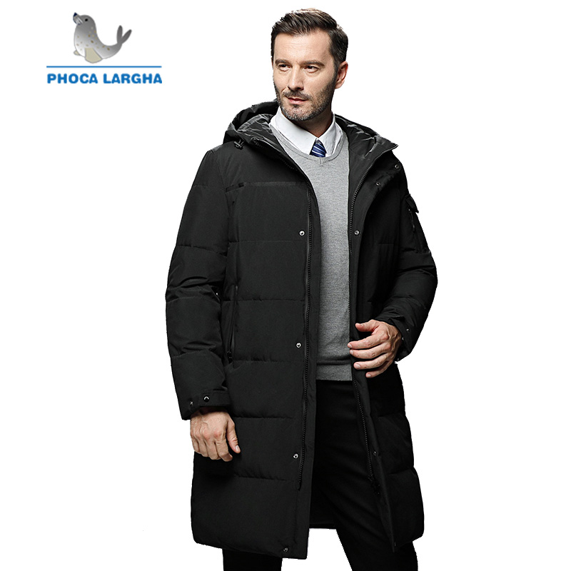 2018 New Winter Duck   Down   Jacket Men Slim Thick Warm Long High Quality Overcoat For Men Fashion Casual Winter   Down     Coats   Male