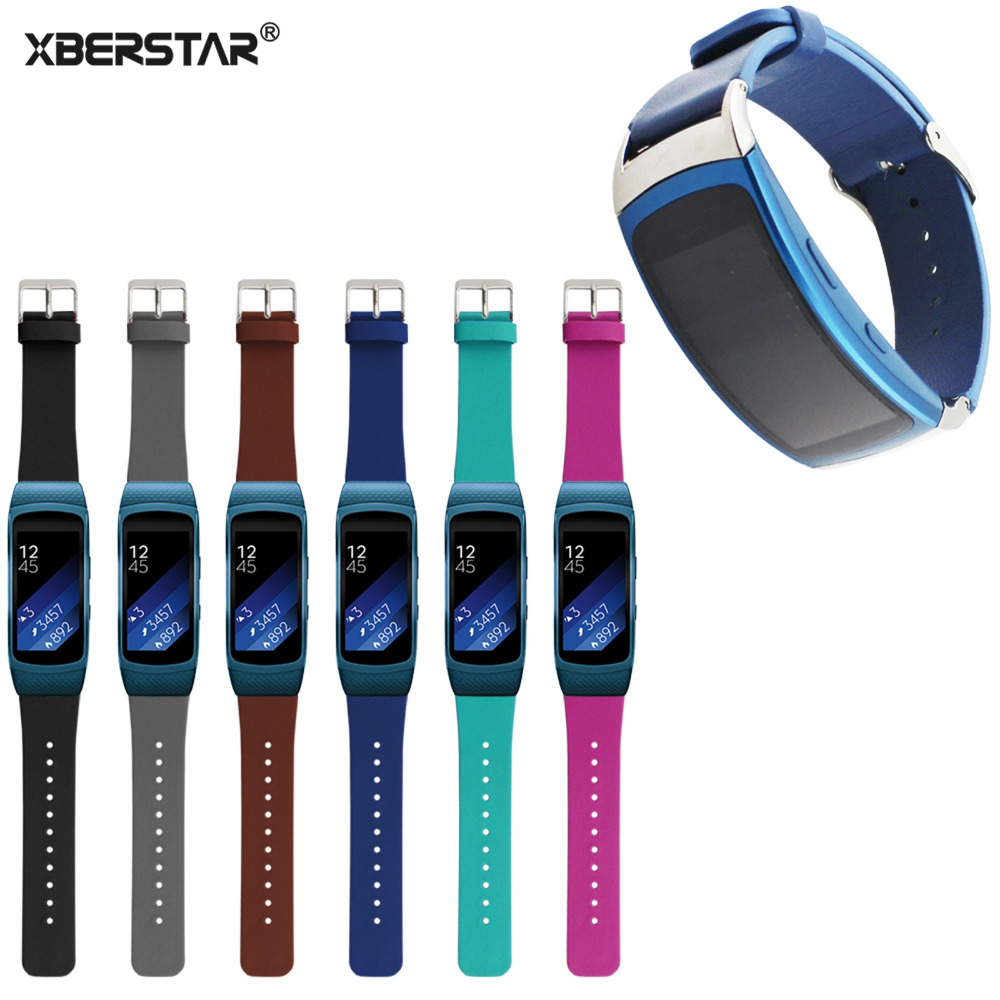 Genuine leather Replacement Watch Wrist Strap Bands For Samsung Gear Fit 2 Watch New samsung gear fit в казани