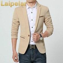 Autumn Winter Mens Blazers Jacket New Arrivals 2018 One Button Suits Coat for Fomal Wear Laipelar Men Slim Blazer Outwear