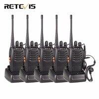 5pcs Walkie Talkie Retevis H777 UHF 400 470MHz Frequency Portable Radio Set Ham Radio Hf Transceiver CTCSS/DCS Handy