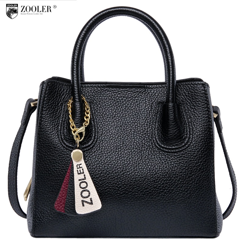 hot new &hot woman leather bag elegant style ZOOLER 2018 genuine leather bags handbag women famous brand bolsa feminina # Y106