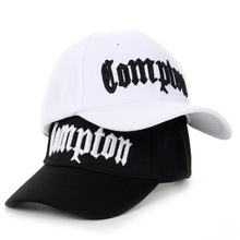 Brand Snapback Compton Baseball Cap Men Women Hip Hop Hat Casquette Black White Gorra fashion solid black pu leather snapbacks for men women spring warm leather hip hop snapback baseball cap women s hat casquette
