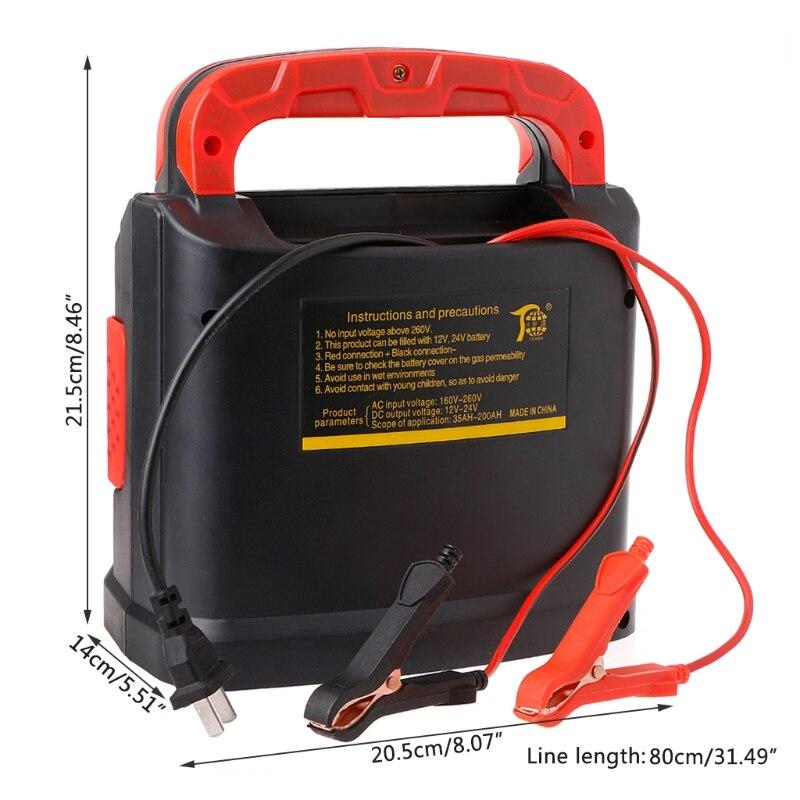 Image 3 - 350 W 14A Авто плюс настроить ЖК дисплей Батарея Зарядное устройство 12 V 24 V автомобиль скачок стартер Портативный-in Пусковое устройство from Автомобили и мотоциклы