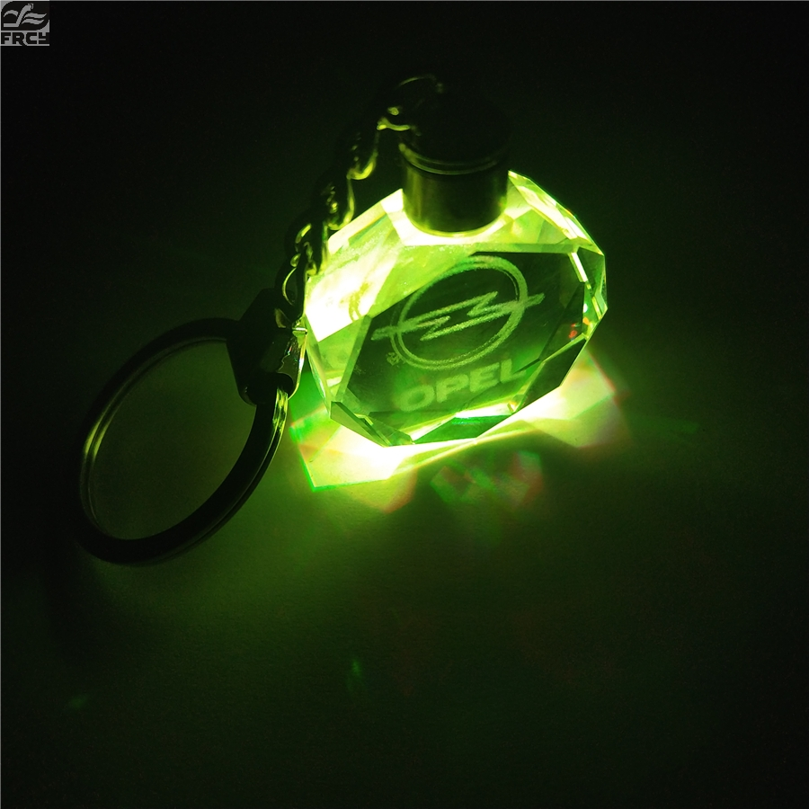 LED Light With 5 Color Emblem Badge Car Keychain Key Ring For OPEL Corsa Insignia Astra Antara Meriva Car Styling Accessories