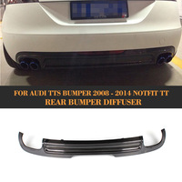Carbon Fiber Car Rear Diffuser Bumper Lip for Audi TT 8J Standard Bumper Not fit US Car 2008 2009 2010 Black PU