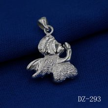 The new fine 925 silver pendant angel wings of contracted pendant modern beautiful pendant for female charm pendant(China)