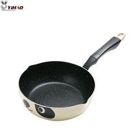 YIHAO 20CM High Quality Hot Sale P Fry Pan Aluminum Pan Non stick Fry Pan Fry Pan Maifan Stone Pot