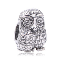 Dodocharms 925 Sterling Silver Charming Owls Charms Beads Fit Original Pandora Bracelet Authentic Jewelry Mother S