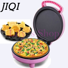 JIQI электрическая блинница, мини-выпечка для пиццы, Кухонная машина, многофункциональная машина для приготовления блинов и кексов, запеченная машина с европейской и американской вилкой